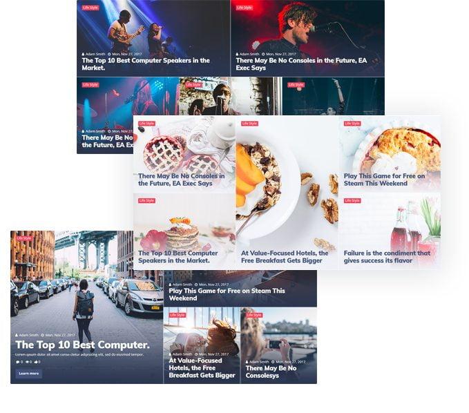 طراحی کاشی هوشمند در افزونه Jet Blog